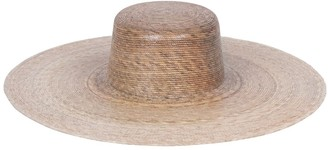 LACK OF COLOR Palma Wide Brim Raffia Boater Hat