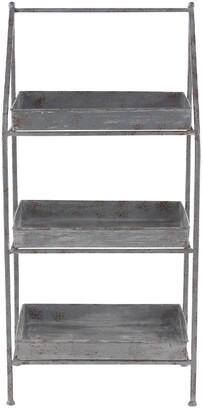Uma Enterprises Iron & Zinc Three-Tiered Patio Shelf