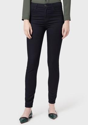 Emporio Armani J20 Super Skinny Jeans In Stretch Denim