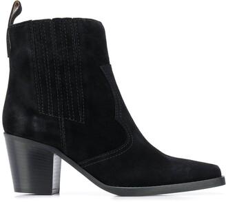 Ganni Chunky-Heel Pull-On Boots