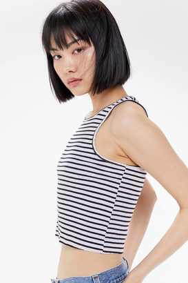 Urban Outfitters Godfather Striped Cutoff Cropped Tank Top