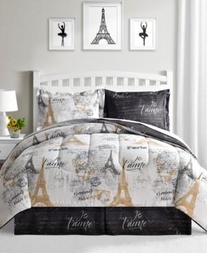 Fairfield Square Collection Paris Gold 8-Pc. Reversible Comforter Sets Bedding