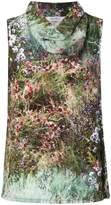Max Mara garden print blouse