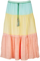 Amy Byer Iz Girls 7-16 IZ Tiered Rainbow Maxi Skirt