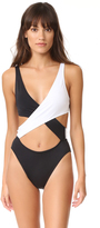 Solid & Striped Poppy Wrap One Piece