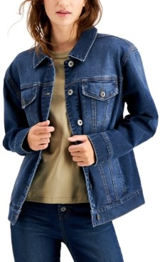 Style&Co. Style & Co Denim Trucker Jacket, Created for Macy's