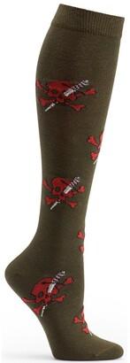 Ozone Women's Skull & Stiletto Knee High Sock