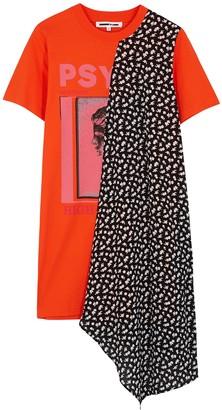 McQ Panelled cotton T-shirt dress