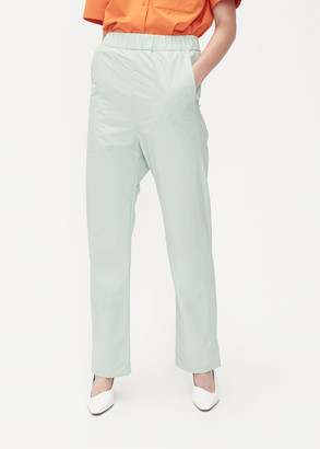Kwaidan Editions Women's Elastic Waist Trouser Pants in Foam Green Size 36 Nylon/Polyurethane/Elastane