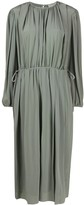 Lemaire pleated detail silk dress