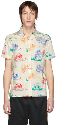 Gucci Off-White and Multicolor Disney Edition Mouse Short Sleeve Shirt