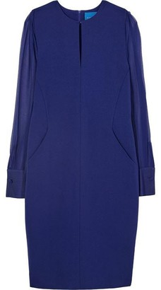 Winser London Winser London Silk Georgette Sleeves Fitted Dress