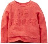 "Carter's Girls 4-8 Be Happy"" Slubbed Top"