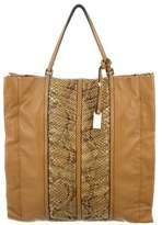 Valentino Quilted Leather & Snakeskin Tote