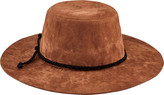 San Diego Hat Company Children's Faux Suede Floppy Hat with Trim WFK4190