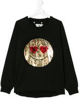 Macchia J sequined smiley sweatshirt