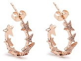 Diane Kordas Diamond & rose-gold Star Line earrings