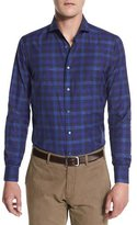 Robert Graham Mauro Long-Sleeves Woven Shirt, Navy