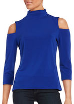 T Tahari Isabeli Knit Cold-Shoulder Top