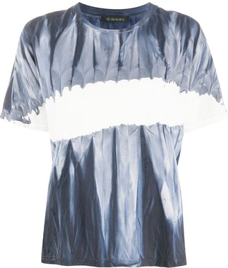 Mr & Mrs Italy tie-dye colour block T-shirt