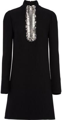 Prada Embroidered Cady Dress