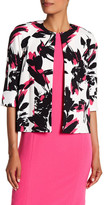 Kasper Brushed Floral Printed Jacket