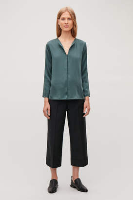 Cos SILK OPEN-NECK BLOUSE