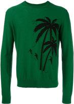 No.21 palm tree jumper - men - Cotton - M