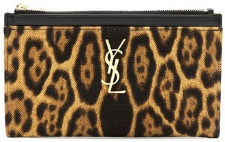 Saint Laurent Monogram leopard print clutch