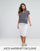 Asos Pencil Skirt with Ruched Side