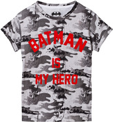 Little Eleven Paris Batman Camo Print Tee