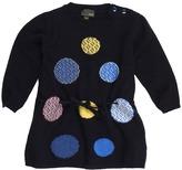 Fendi Baby L/S Knit Dress (Infant) (Navy) - Apparel