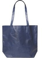 Dorothy Perkins Womens Navy Spot Print PVC Shopper Bag- Blue