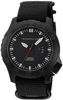 Momentum Men's Quartz Stainless Steel and Nylon Watch, Color:Black (Model: 1M-DV76B7B)