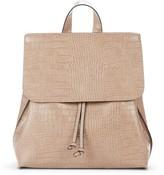 Sole Society Selena Croc Embossed Backpack