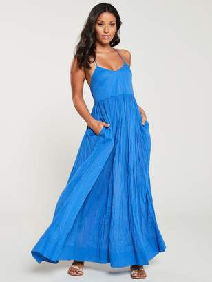 Very Cotton Parachute Maxi Dress - Blue