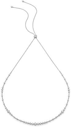 De Beers 18kt white gold Arpeggia diamond choker and headband