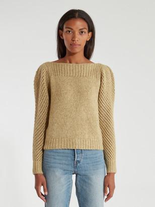 LoveShackFancy Rosie Pointelle Alpaca Pullover Sweater