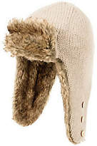 Nirvanna Designs Russian Earflap with Faux Furand Buttons