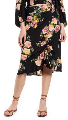 Band of Gypsies Siena Floral Print Skirt