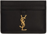 Saint Laurent Black Monogram Card Holder
