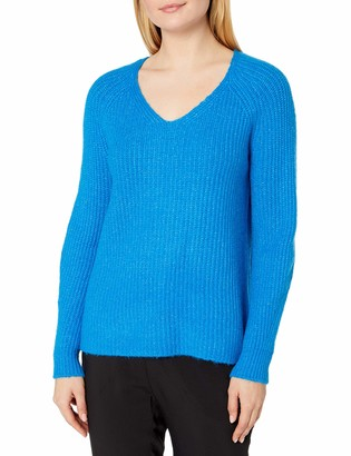 Vince Camuto Women's Long Sleeve Ribbed V-Neck Sweater