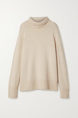 The Row Milina Wool And Cashmere-blend Turtleneck Sweater - Beige