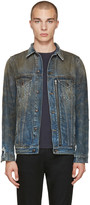 R 13 Indigo Denim Trucker Jacket