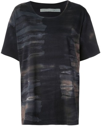 Raquel Allegra tie-dye print T-shirt