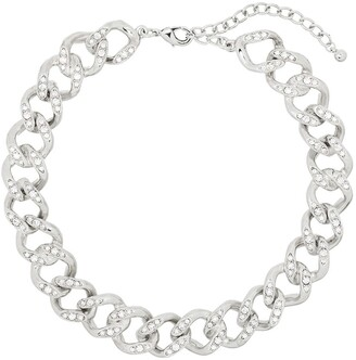Kenneth Jay Lane Crystal-Embellished Chain Necklace