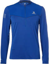 Salomon Fast Wing HZ Mesh-Panelled Jersey Half-Zip Top