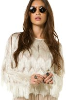 Whitney Eve Pullover Knit Fringed Top