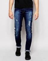 Loyalty And Faith Skinny Jean Distressing Dark Wash