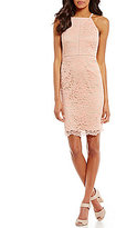 Vince Camuto Halter Lace Sheath Dress